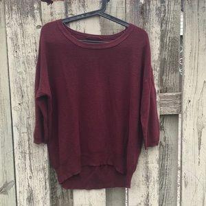 Wilfred Balzac silk cashmere dark red M